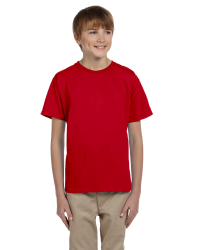 Cherry Red Youth Premium Ultra Cotton T as seen from the front