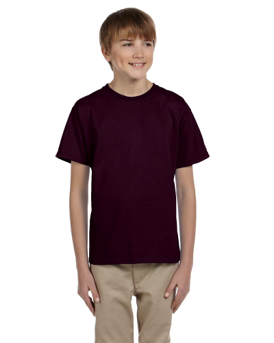 Dark Chocolate Youth Premium Ultra Cotton T as seen from the front