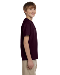 Dark Chocolate Youth Premium Ultra Cotton T as seen from the sleeveleft