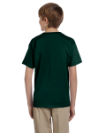 Forest Green Youth Premium Ultra Cotton T as seen from the back