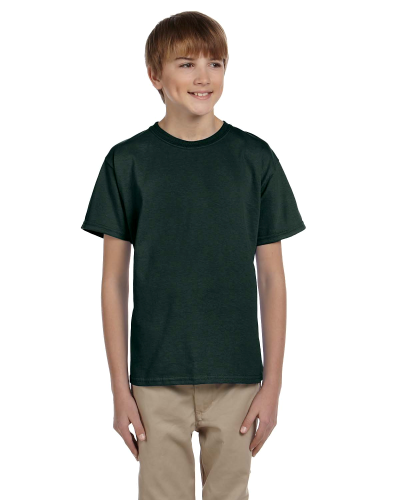 Forest Green Youth Premium Ultra Cotton T as seen from the front