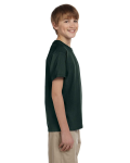 Forest Green Youth Premium Ultra Cotton T as seen from the sleeveleft