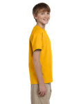 Gold Youth Premium Ultra Cotton T as seen from the sleeveleft