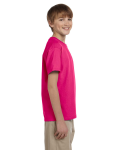 Heliconia Youth Premium Ultra Cotton T as seen from the sleeveleft