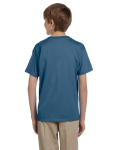 Indigo Blue Youth Premium Ultra Cotton T as seen from the back