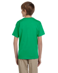Irish Green Youth Premium Ultra Cotton T as seen from the back