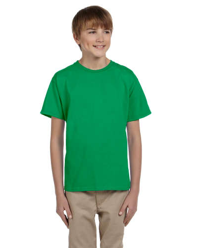 Irish Green Youth Premium Ultra Cotton T as seen from the front