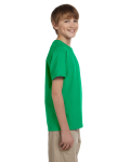 Irish Green Youth Premium Ultra Cotton T as seen from the sleeveleft
