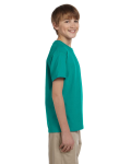 Jade Dome Youth Premium Ultra Cotton T as seen from the sleeveleft