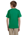 Kelly Green Youth Premium Ultra Cotton T as seen from the back
