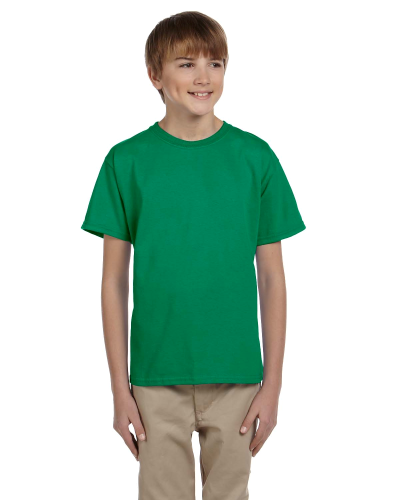 Kelly Green Youth Premium Ultra Cotton T as seen from the front