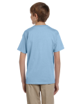 Light Blue Youth Premium Ultra Cotton T as seen from the back