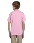 Light Pink Youth Premium Ultra Cotton T as seen from the back