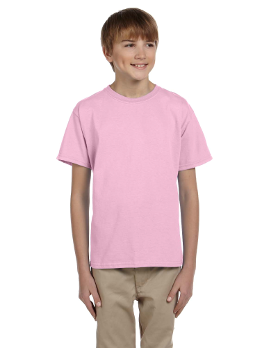 Light Pink Youth Premium Ultra Cotton T as seen from the front