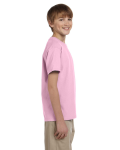 Light Pink Youth Premium Ultra Cotton T as seen from the sleeveleft