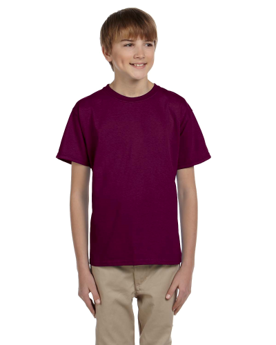 Maroon Youth Premium Ultra Cotton T as seen from the front