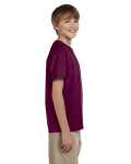 Maroon Youth Premium Ultra Cotton T as seen from the sleeveleft