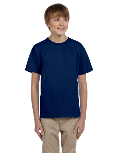 Navy Youth Premium Ultra Cotton T as seen from the front