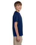 Navy Youth Premium Ultra Cotton T as seen from the sleeveleft