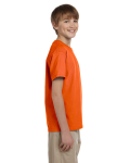 Orange Youth Premium Ultra Cotton T as seen from the sleeveleft