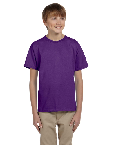 Purple Youth Premium Ultra Cotton T as seen from the front