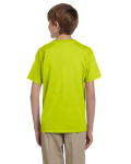 Safety Green Youth Premium Ultra Cotton T as seen from the back
