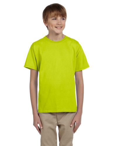 Safety Green Youth Premium Ultra Cotton T as seen from the front