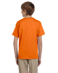 Safety Orange Youth Premium Ultra Cotton T as seen from the back