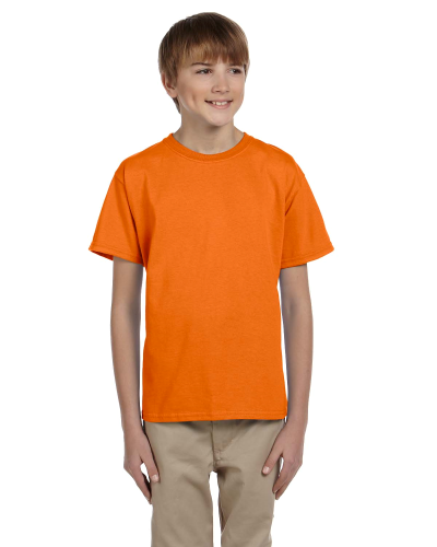 Safety Orange Youth Premium Ultra Cotton T as seen from the front