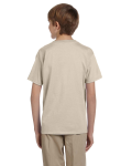 Sand Youth Premium Ultra Cotton T as seen from the back