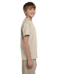 Sand Youth Premium Ultra Cotton T as seen from the sleeveleft