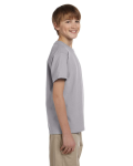 Sport Grey Youth Premium Ultra Cotton T as seen from the sleeveleft