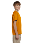 Texas Orange Youth Premium Ultra Cotton T as seen from the sleeveleft