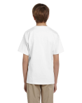 White Youth Premium Ultra Cotton T as seen from the back