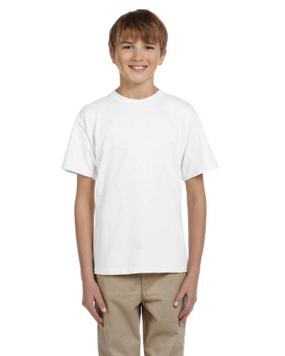 White Youth Premium Ultra Cotton T as seen from the front