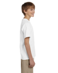 White Youth Premium Ultra Cotton T as seen from the sleeveleft