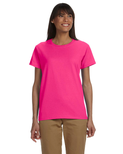 Heliconia Ladies' Premium Ultra Cotton T as seen from the front