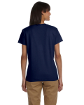 Navy Ladies' Premium Ultra Cotton T as seen from the back