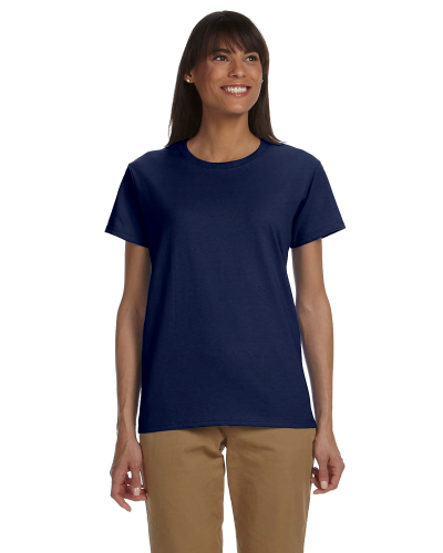 Navy Ladies' Premium Ultra Cotton T as seen from the front