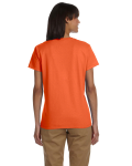 Orange Ladies' Premium Ultra Cotton T as seen from the back