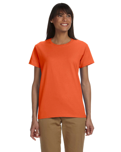Orange Ladies' Premium Ultra Cotton T as seen from the front