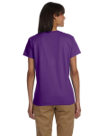 Purple Ladies' Premium Ultra Cotton T as seen from the back