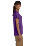Purple Ladies' Premium Ultra Cotton T as seen from the sleeveleft