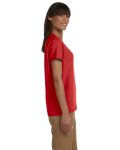 Red Ladies' Premium Ultra Cotton T as seen from the sleeveleft