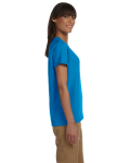 Sapphire Ladies' Premium Ultra Cotton T as seen from the sleeveleft