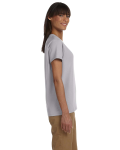 Sport Grey Ladies' Premium Ultra Cotton T as seen from the sleeveleft