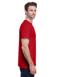Red Tall Premium Ultra Cotton T as seen from the sleeveleft
