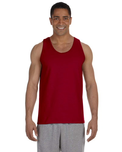 Cardinal Red Premium Cotton Tank as seen from the front