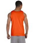 Orange Premium Cotton Tank as seen from the back