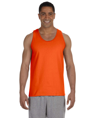 Orange Premium Cotton Tank as seen from the front